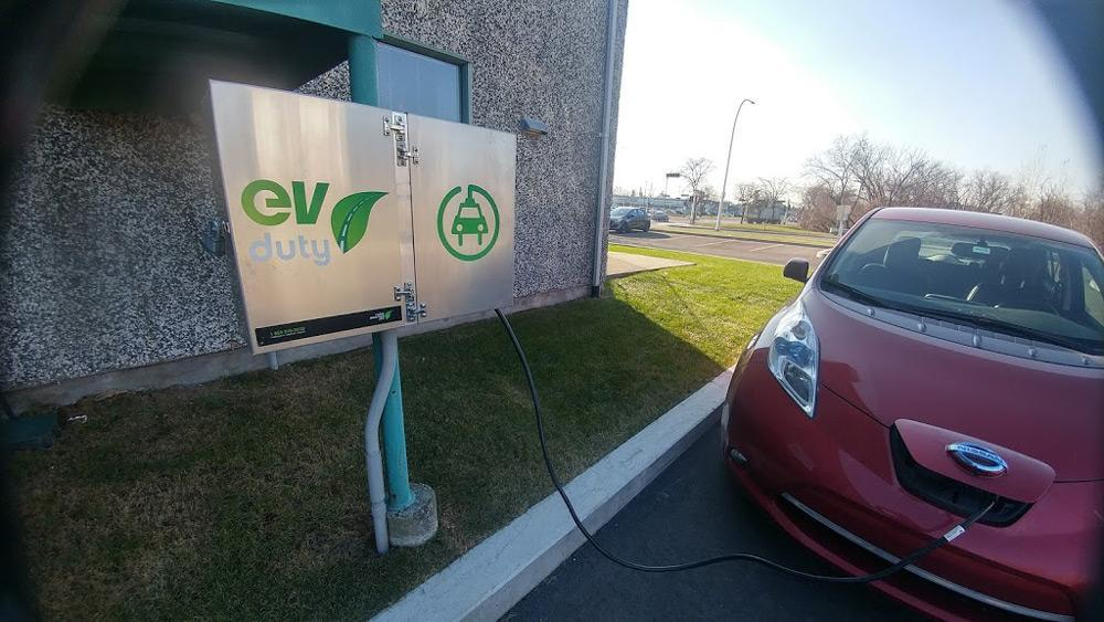 Borne de recharge pour auto électrique.