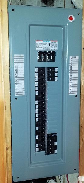 Panneau électrique 200 ampères Siemens