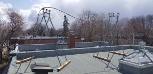 Trepied sur toit plat